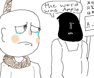 Hangman dies to the word 'Apole'