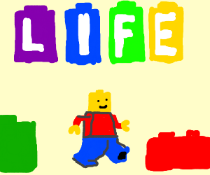 life but everything is made of lego