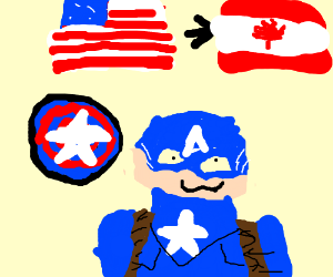Captain America moves to Canada