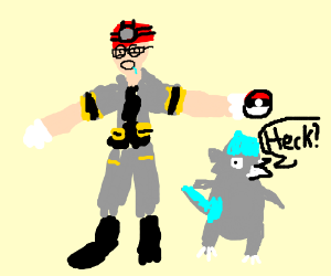 gym leader roark is confused drawception