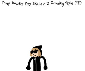 Tony Hawk style drawing PIO