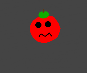 AN ANGRY TOMATO