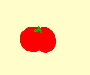 sad tomato, or just a tomato