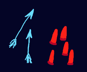 Blue Arrows And Red Bullets