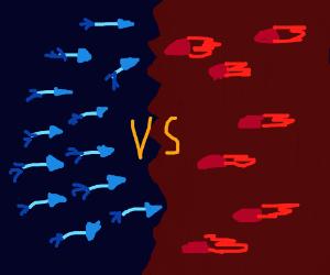 arrows vs. rockets