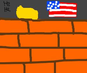 Trumps wall >;(