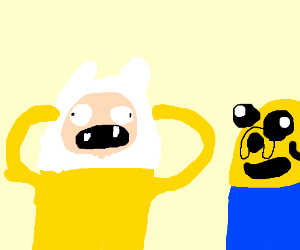 Finn the Dog and Jake the Human - Drawception