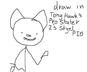 Draw in Tony Hawks Pro Skater 2's style (PIO)