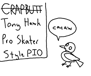 Draw in Tony Hawk Pro Skater's style PIO