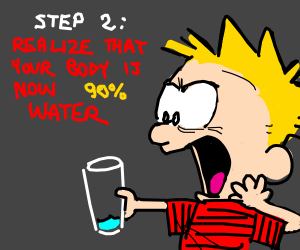 Step1: Drink water like normal human