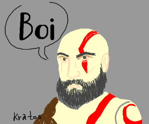 """Kratos says """"Boi"""""""