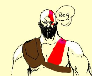 """Kratos (God of War) says """"Boi"""""""