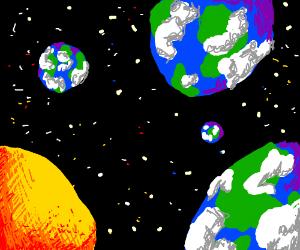 four planet earths