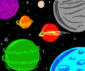 lots of different planets