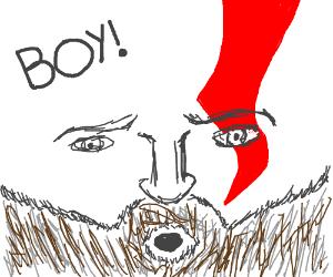 Kratos summons the boy