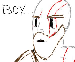 "Kratos says ""BOY"""