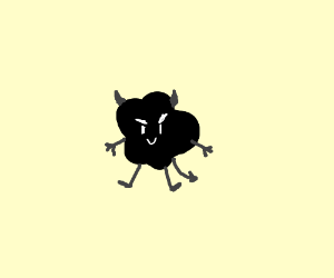 Smol inkblot demon