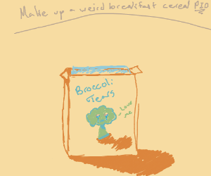 Make up a weird breakfast cereal P.I.O.