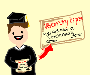 Earning Veterinary Degree
