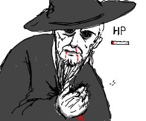 Wizard boss is on low health