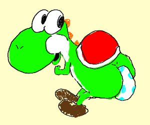Yoshi Laying Egg