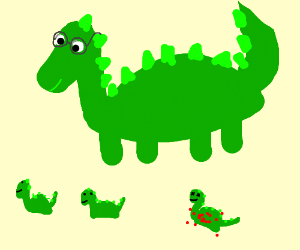 Dandy dino. 3 kids ( 1 is dead)