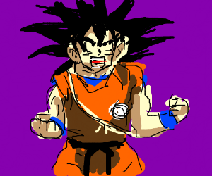 Classic Goku powering up