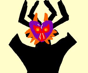Aku wearing Majora's Mask