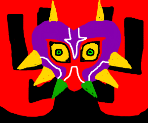 Majora mask Aku from samurai jack
