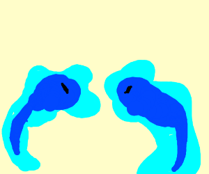 Two tadpoles