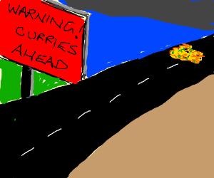 Warning curries ahead