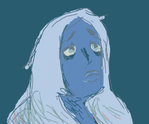 sad and blue girl