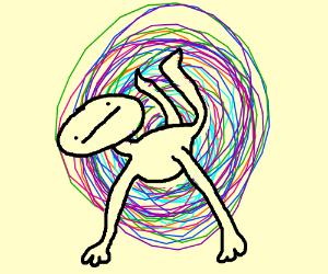 man gets sucked into vortex