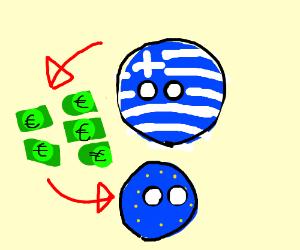 greece pays his denbts