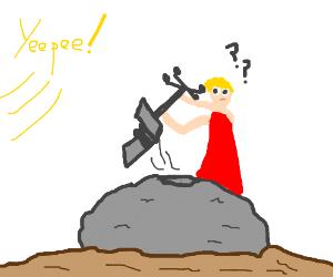 You won a chairxalibur! Yeepee!