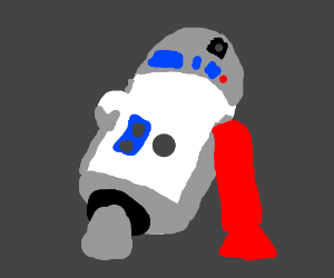 R2-d2 with a red leg