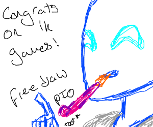 I've hit 1000 games! Free Draw PIO!