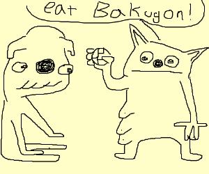 Dog and Cat Playing Bakugan
