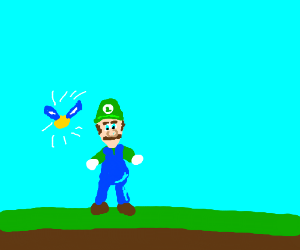 Navi telling Luigi something