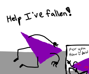 A triangle that has mcfallen