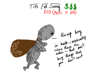 Tips for saving money, PASS IT ON
