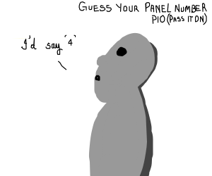 Guess your panel number (PIO) 3?