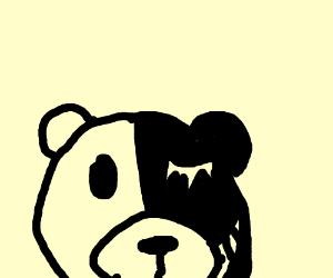 teddy bear wif split personalities (evil good)