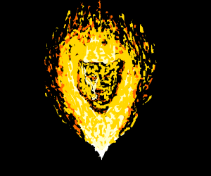 Fire Lion (good drawing!)