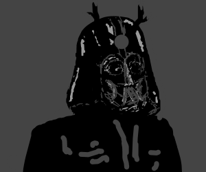 Darth Vader but he's a samurai instead.