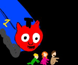 Thomas the Demon Train attacks  prey