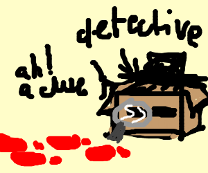 Detective box finds a clue: bloody footprints