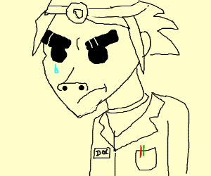 doctor that looks like 2d from gorillaz is sad