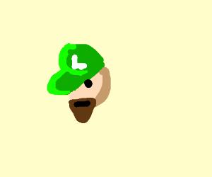 Luigi but with a beard