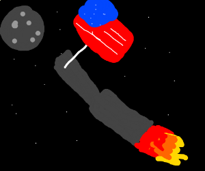 America can into space